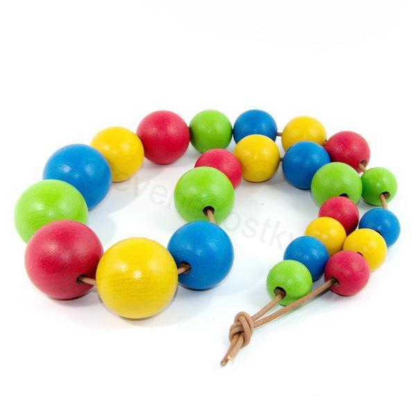 Dřevěné barevné korále - 4 barvy 97647eafcd